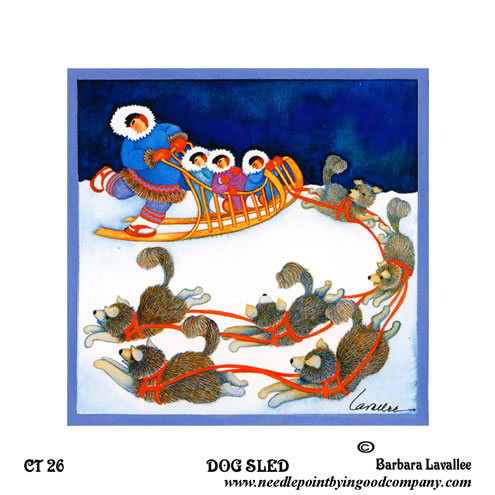 click here to view larger image of Dog Sled (hand painted canvases)