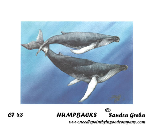 click here to view larger image of Humpbacks (hand painted canvases)
