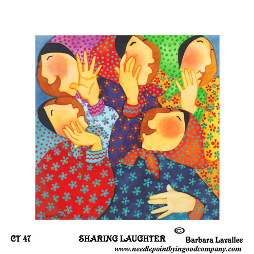 click here to view larger image of Sharing Laughter (hand painted canvases)