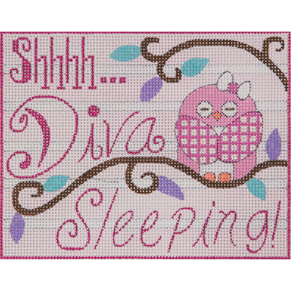 click here to view larger image of Diva Sleeping (hand painted canvases)