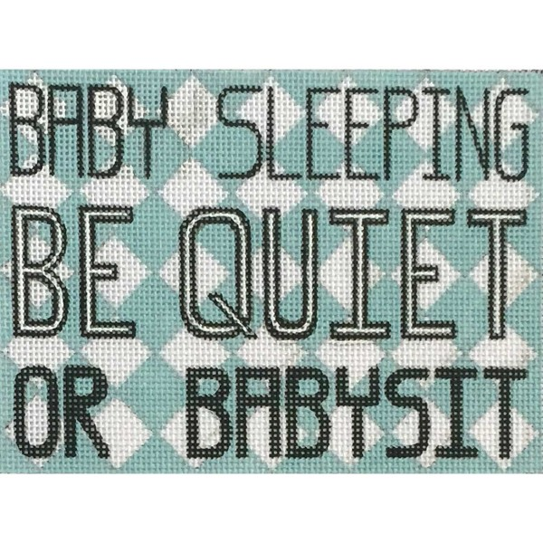 click here to view larger image of Sleeping Quiet Or Babysit (hand painted canvases)