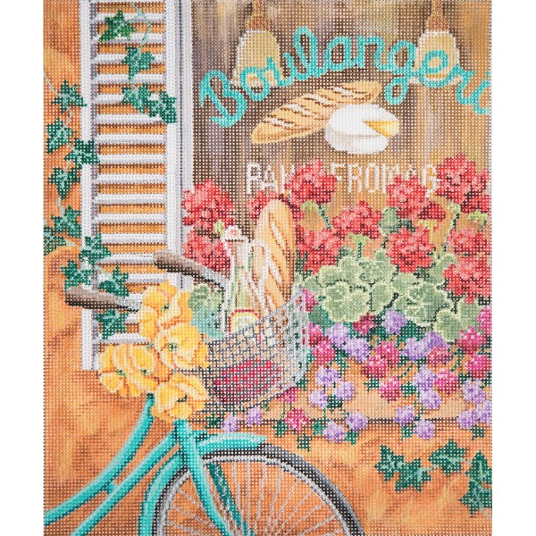 Bike In France hand painted canvases