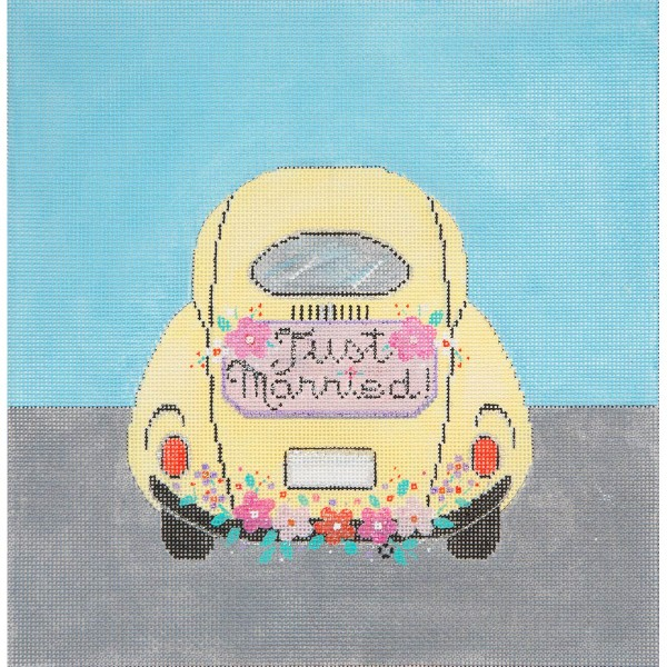 click here to view larger image of Just Married Ride (hand painted canvases)