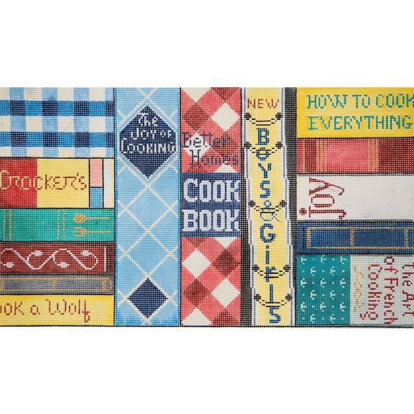 Cookbooks hand painted canvases