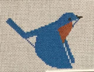 click here to view larger image of Bluebird Ornament (hand painted canvases)