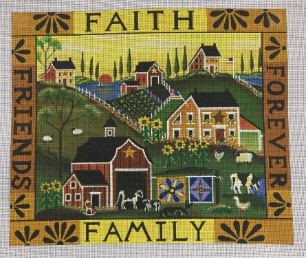 click here to view larger image of Faith and Family (hand painted canvases)