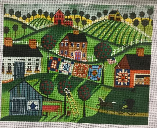 click here to view larger image of Amish Quilts (hand painted canvases)