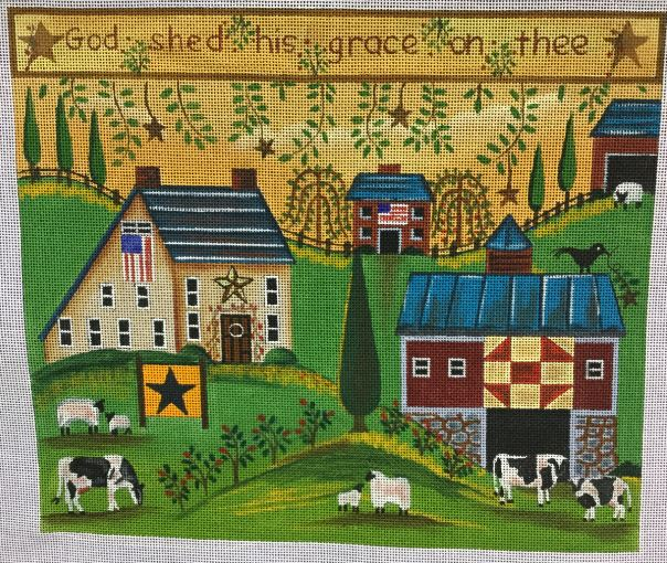 click here to view larger image of Peaceful Farm (hand painted canvases)