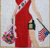 click here to view larger image of Miss Congeniality (hand painted canvases)