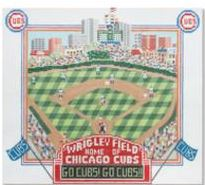 click here to view larger image of Wrigley Field (hand painted canvases)