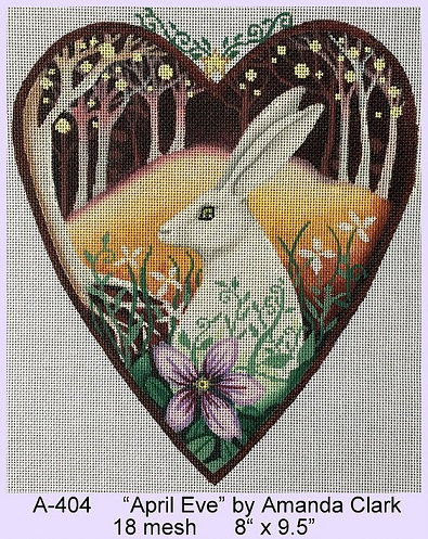 click here to view larger image of April Eve Heart (hand painted canvases)