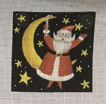 click here to view larger image of Celestial Santa Moon (hand painted canvases)