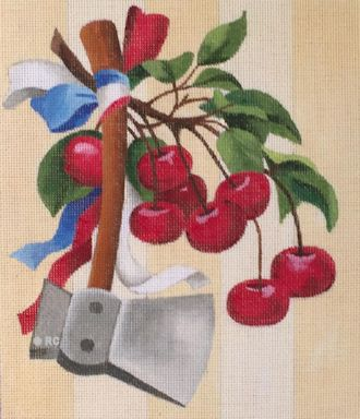 click here to view larger image of July 4th Cherries (hand painted canvases)