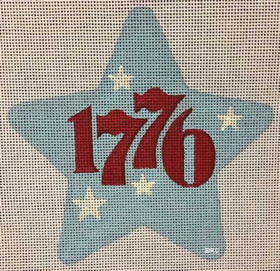 click here to view larger image of 1776 Star (hand painted canvases)