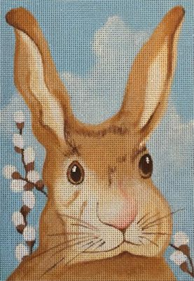 click here to view larger image of Bunny Portrait (hand painted canvases)
