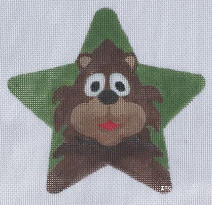 click here to view larger image of Bear Star (hand painted canvases)
