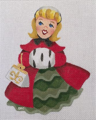 click here to view larger image of Christmas Girl 3 (hand painted canvases)