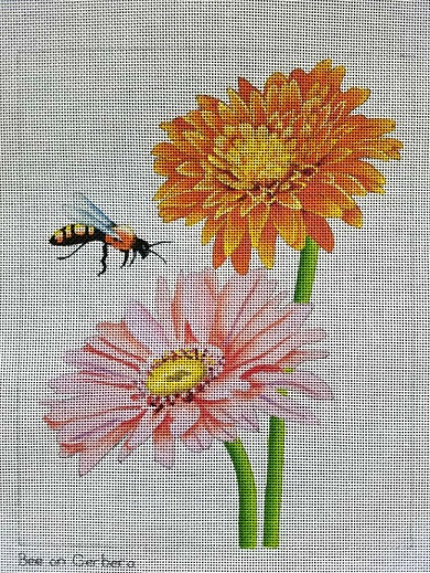 click here to view larger image of Bee On Gerbera (hand painted canvases)