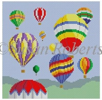 click here to view larger image of Hot Air Balloons (hand painted canvases)
