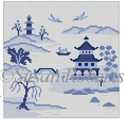 click here to view larger image of Japanese Inlet (hand painted canvases)