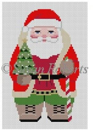 click here to view larger image of Woodsman Santa (front) (hand painted canvases)