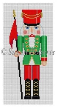 click here to view larger image of Christmas Guard Nutcracker (hand painted canvases)