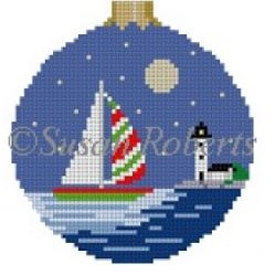 click here to view larger image of Christmas Sail (hand painted canvases)