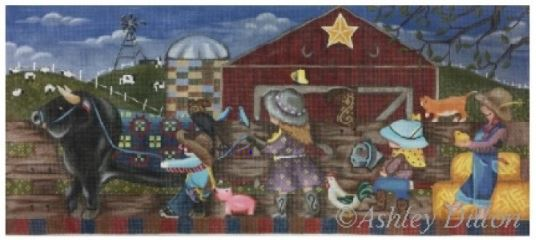 click here to view larger image of Barn March (hand painted canvases)