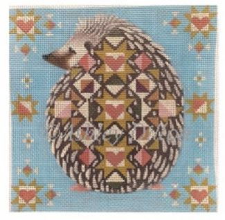 click here to view larger image of Quiltback Hedgehog (hand painted canvases)