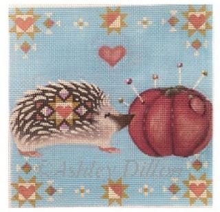 click here to view larger image of Quill Love Hedgehog (hand painted canvases)