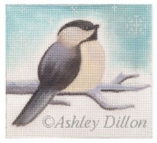 click here to view larger image of Chickadee Looking Up (hand painted canvases)