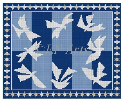 click here to view larger image of Doves of Peace (hand painted canvases)