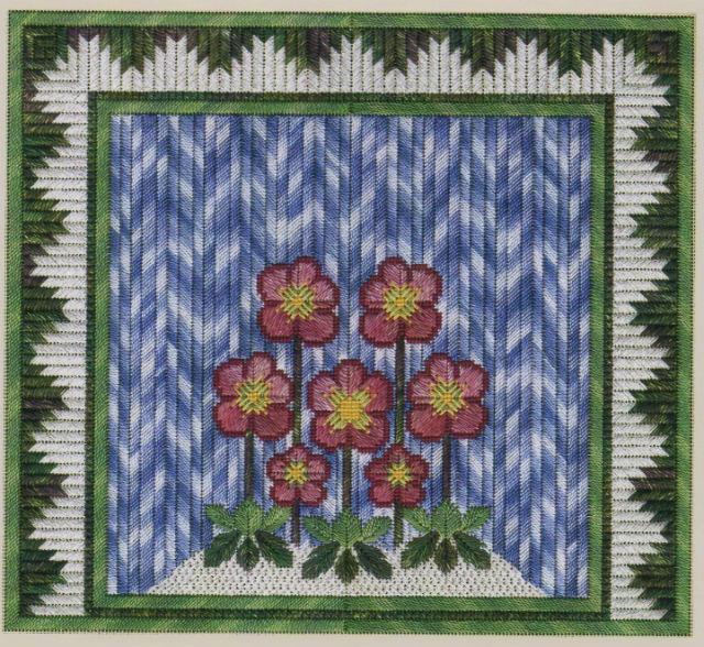 click here to view larger image of Winter Christmas Roses (counted canvas work)