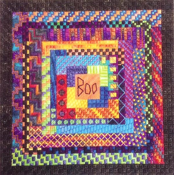 click here to view larger image of Boo Logs (counted canvas work)