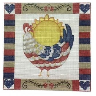 click here to view larger image of Americana Chicken (hand painted canvases)