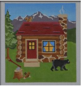 click here to view larger image of Mountain House (hand painted canvases)