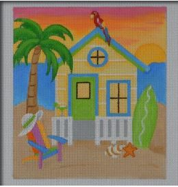 click here to view larger image of Margaritaville Beach House (hand painted canvases)