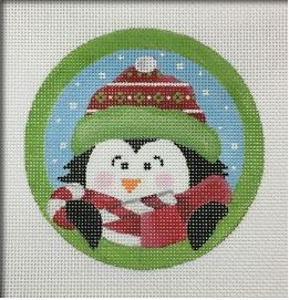 click here to view larger image of Sweet Tooth Penguin Ornament (hand painted canvases)
