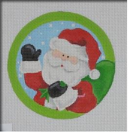 click here to view larger image of Santas Bag Ornament (hand painted canvases)