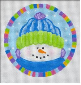 click here to view larger image of Max The Snowman Ornament (hand painted canvases)
