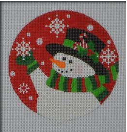 Candy Cane Snowman Ornament hand painted canvases