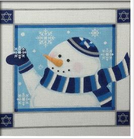 click here to view larger image of Yarmulka Snowman (hand painted canvases)