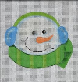 click here to view larger image of Snowman Head (hand painted canvases)
