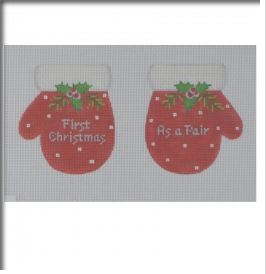 click here to view larger image of First Christmas As A Pair (hand painted canvases)