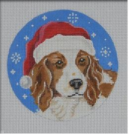 click here to view larger image of Welsh Springer Spaniel Santa Ornament (hand painted canvases)