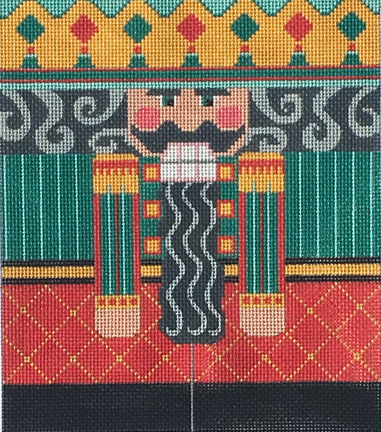 click here to view larger image of Red/Teal Nutcracker Roll Up (hand painted canvases)