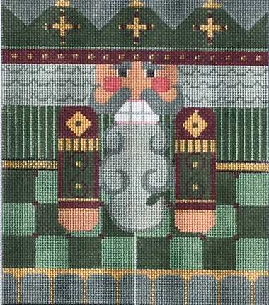 click here to view larger image of Green/Beige Nutcracker Roll Up (hand painted canvases)