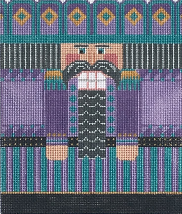 click here to view larger image of Purple/Blue Nutcracker Roll Up (hand painted canvases)