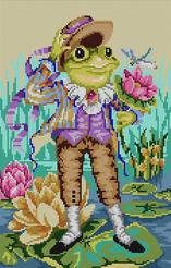 click here to view larger image of Mr Frog Goes A Courtin (hand painted canvases)