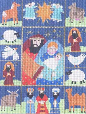 click here to view larger image of Nativity Sampler (hand painted canvases)